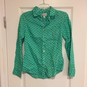 J crew perfect button up shirt size 00